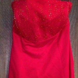 JORDAN LIMITED RED PROM BRIDESMAID DRESS SIZE 12